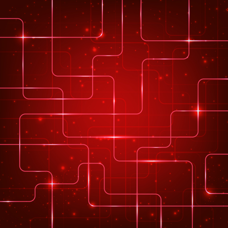 Abstract hi-tech red background Photoshop brush