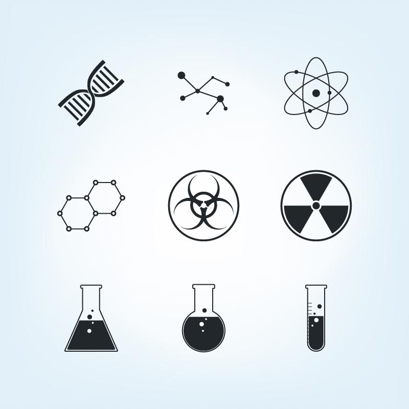 Chemistry Icons Set Photoshop brush