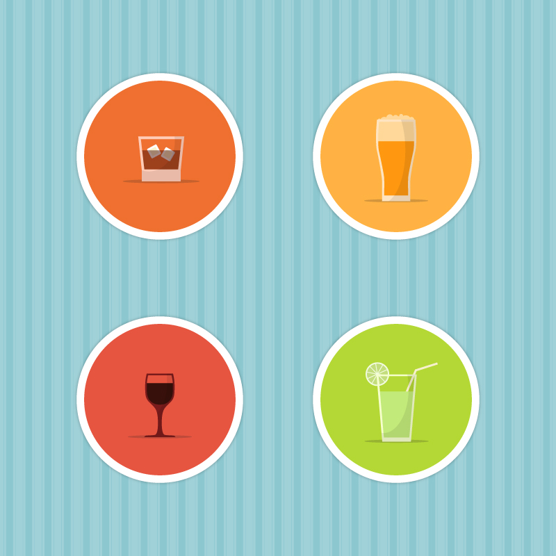 Drinks Icon Set Photoshop brush