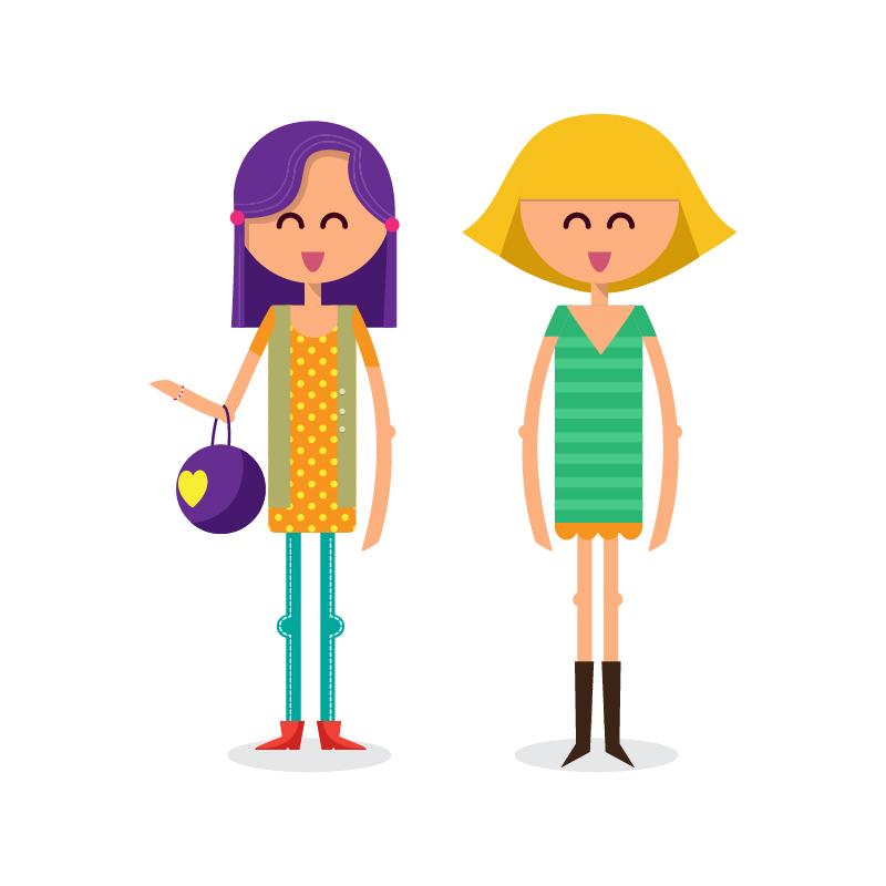 Girls shopping vector illustration Photoshop brush