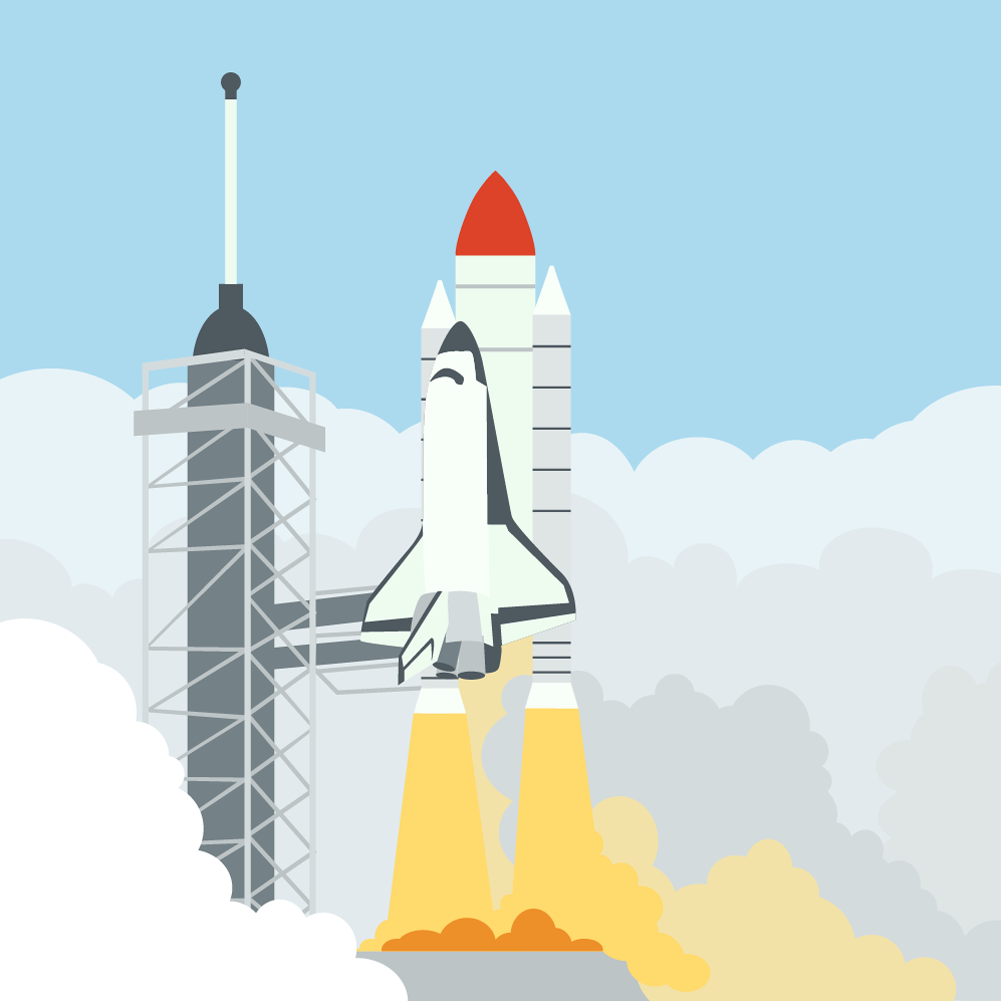 launching space shuttle Photoshop brush