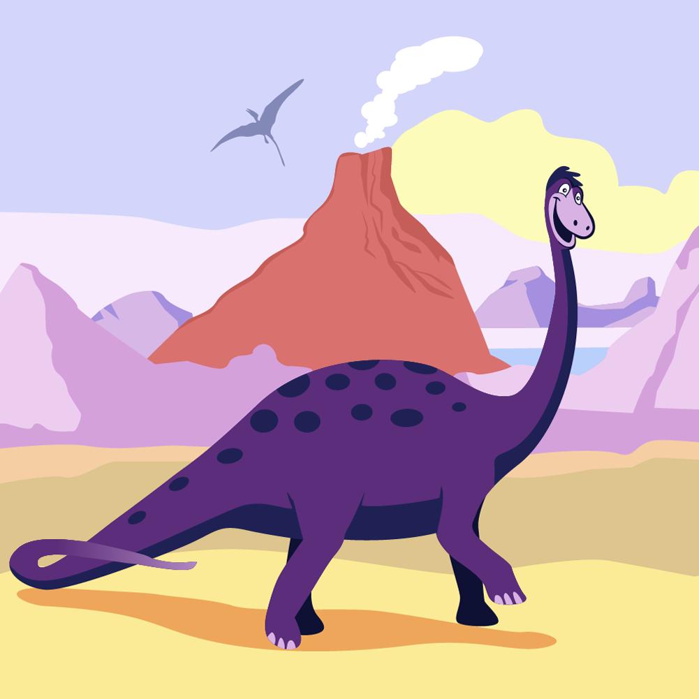 dinosaur cartoon Photoshop brush