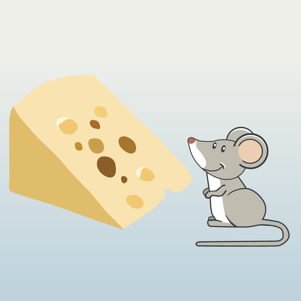 mouse and cheese Photoshop brush