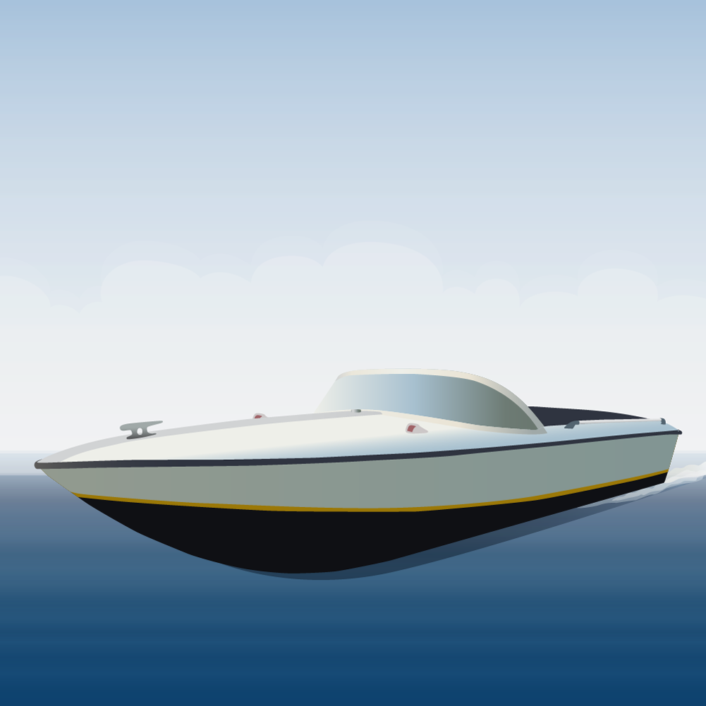 speedboat Photoshop brush
