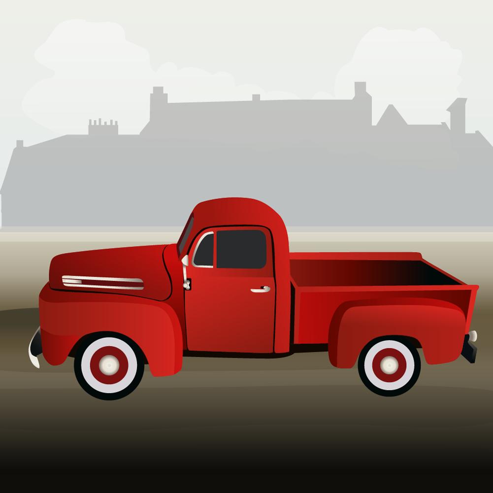 small truck Photoshop brush