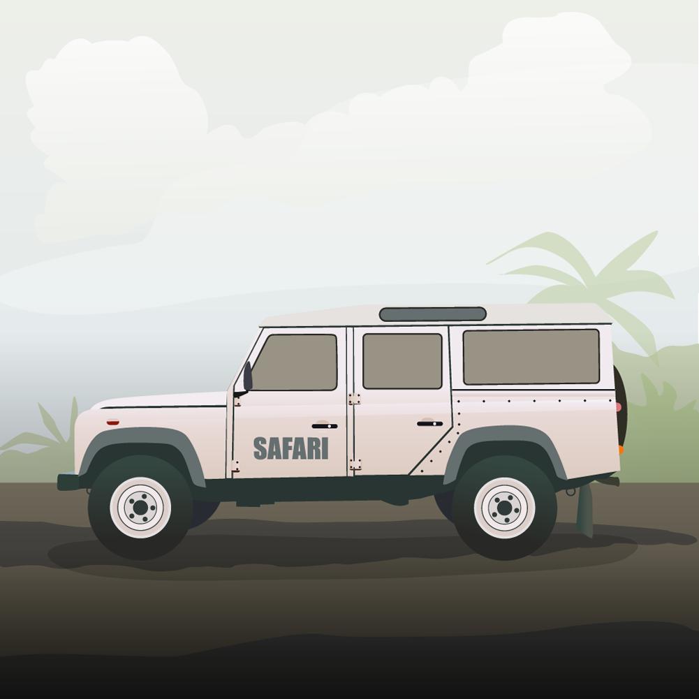 safari truck Photoshop brush