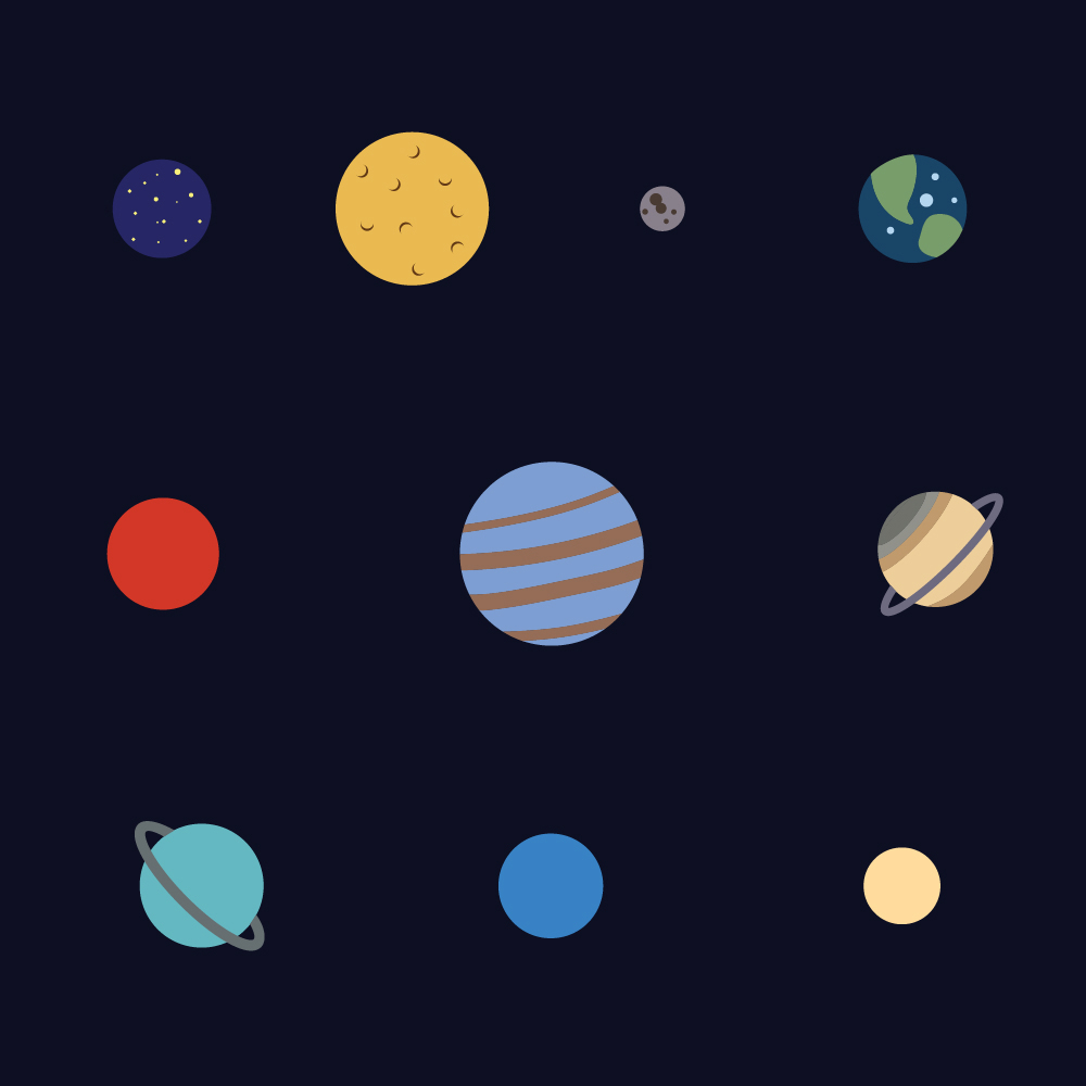 The Solar System Photoshop brush