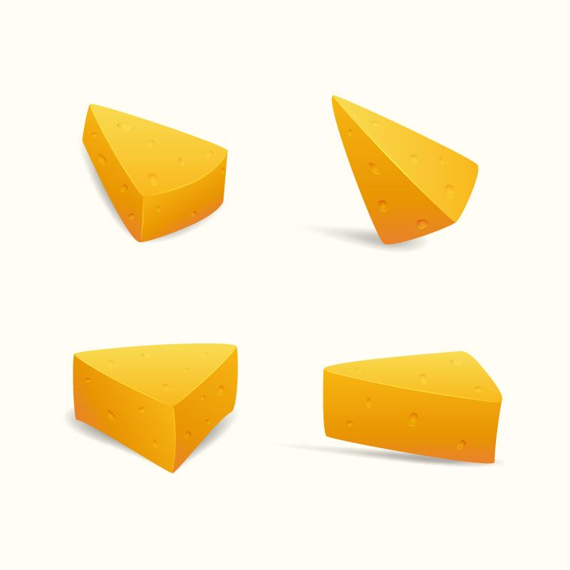 Swiss Cheese Slices Photoshop brush