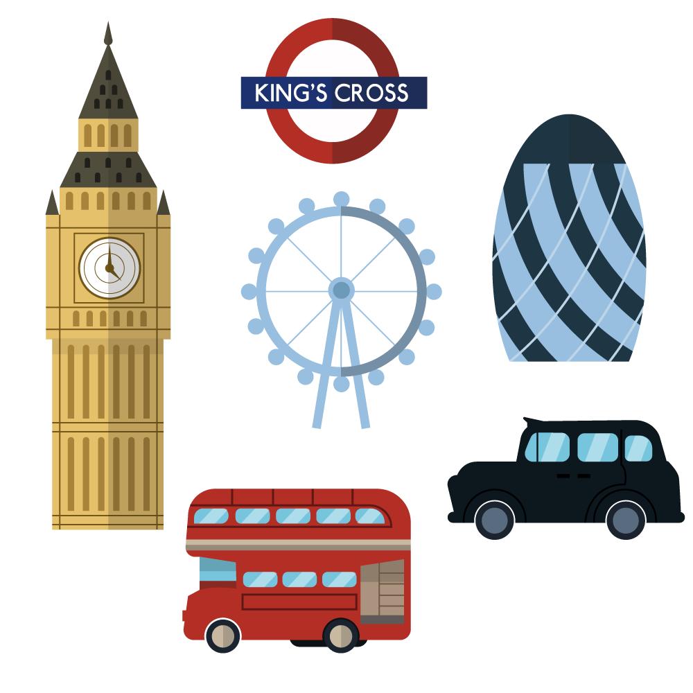 London icons and elements Photoshop brush