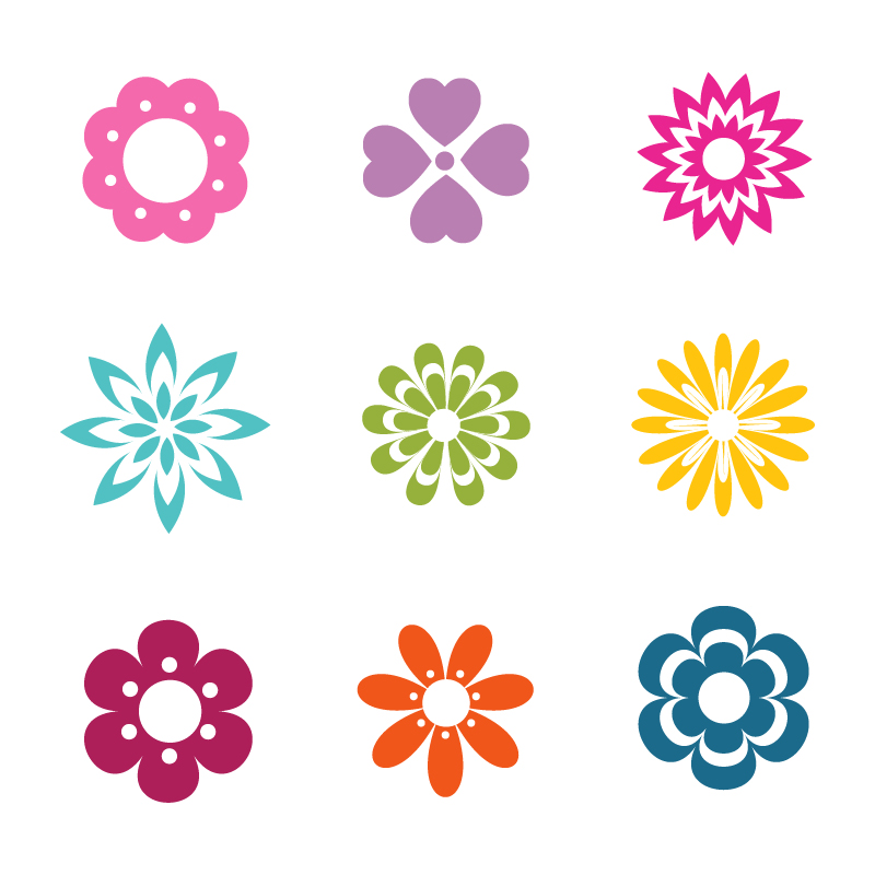 Vector Flowers Icons Photoshop brush