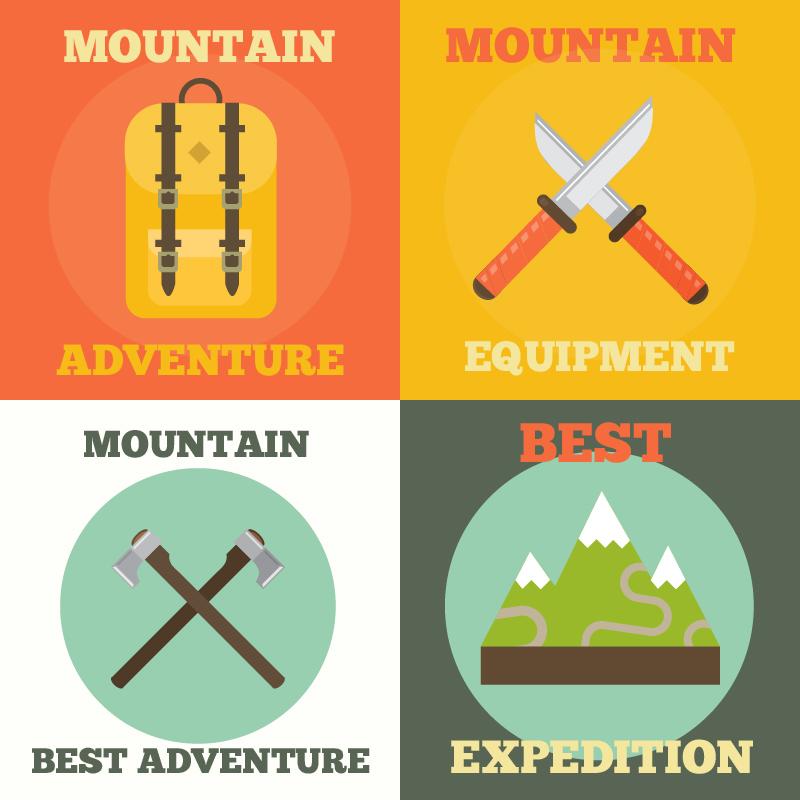 Mountain Adventure Icons Photoshop brush