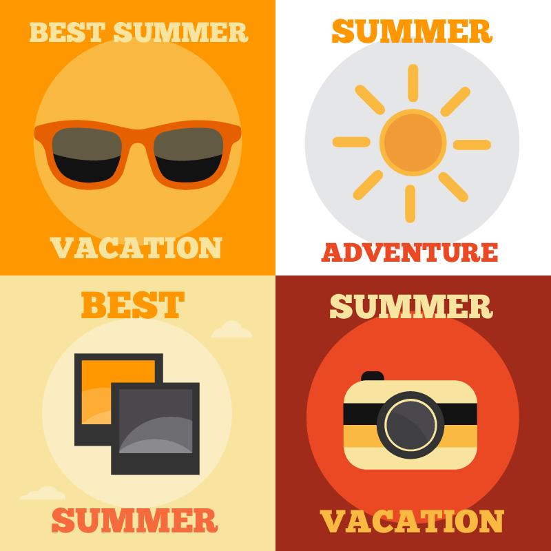 Summer Vacation Icons Photoshop brush