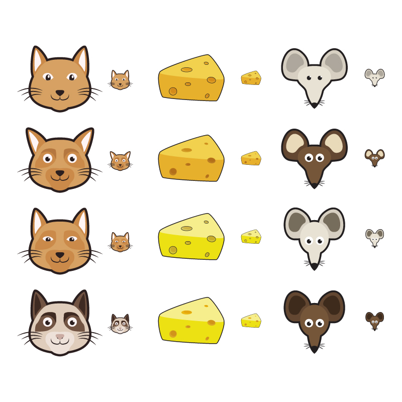 Cat and Mouse Icons Photoshop brush
