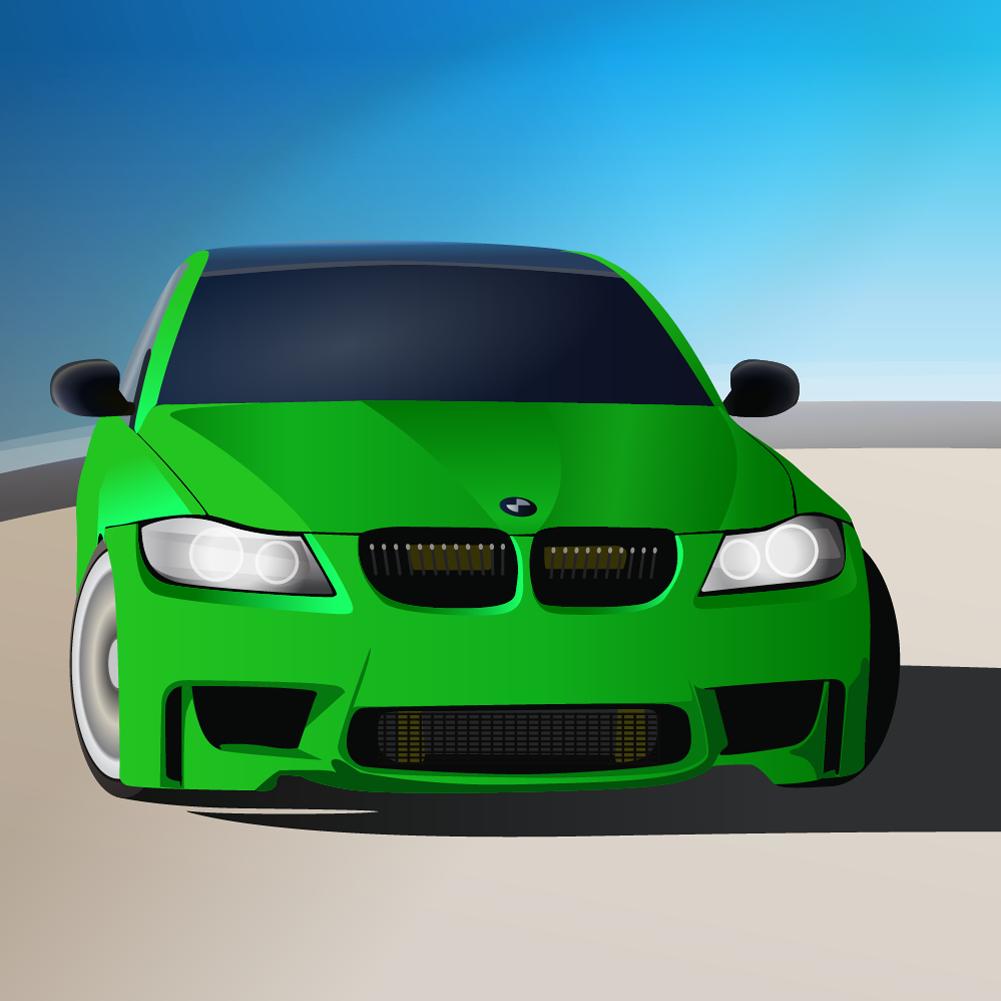 green sports car Photoshop brush