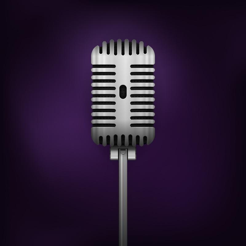 Retro Vector Microphone Photoshop brush