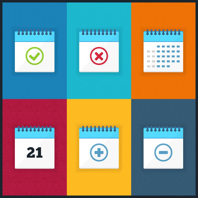 Vector Calendar Icons Photoshop brush