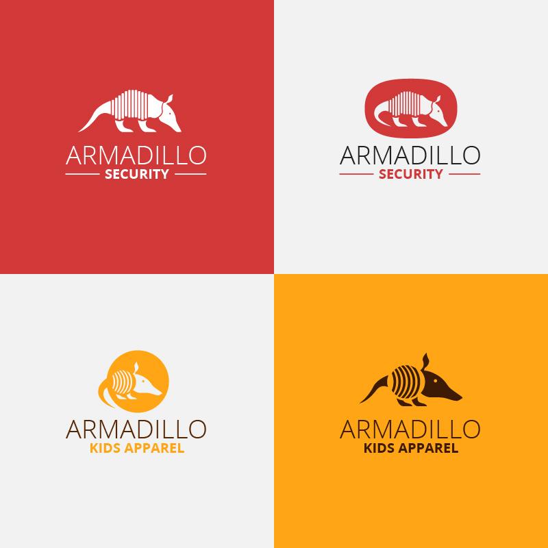 Security armadillo logo design Photoshop brush
