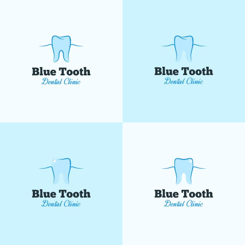 Dental clinic logo design Photoshop brush
