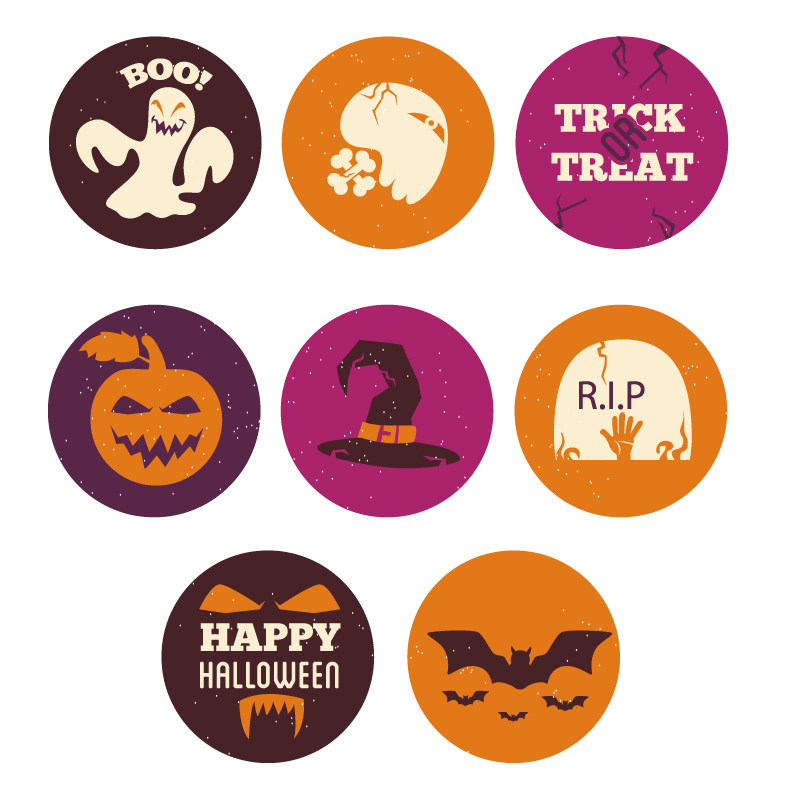 Halloween icons  Photoshop brush