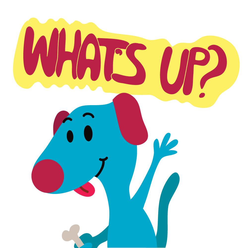 Dog Says What's up? Photoshop brush