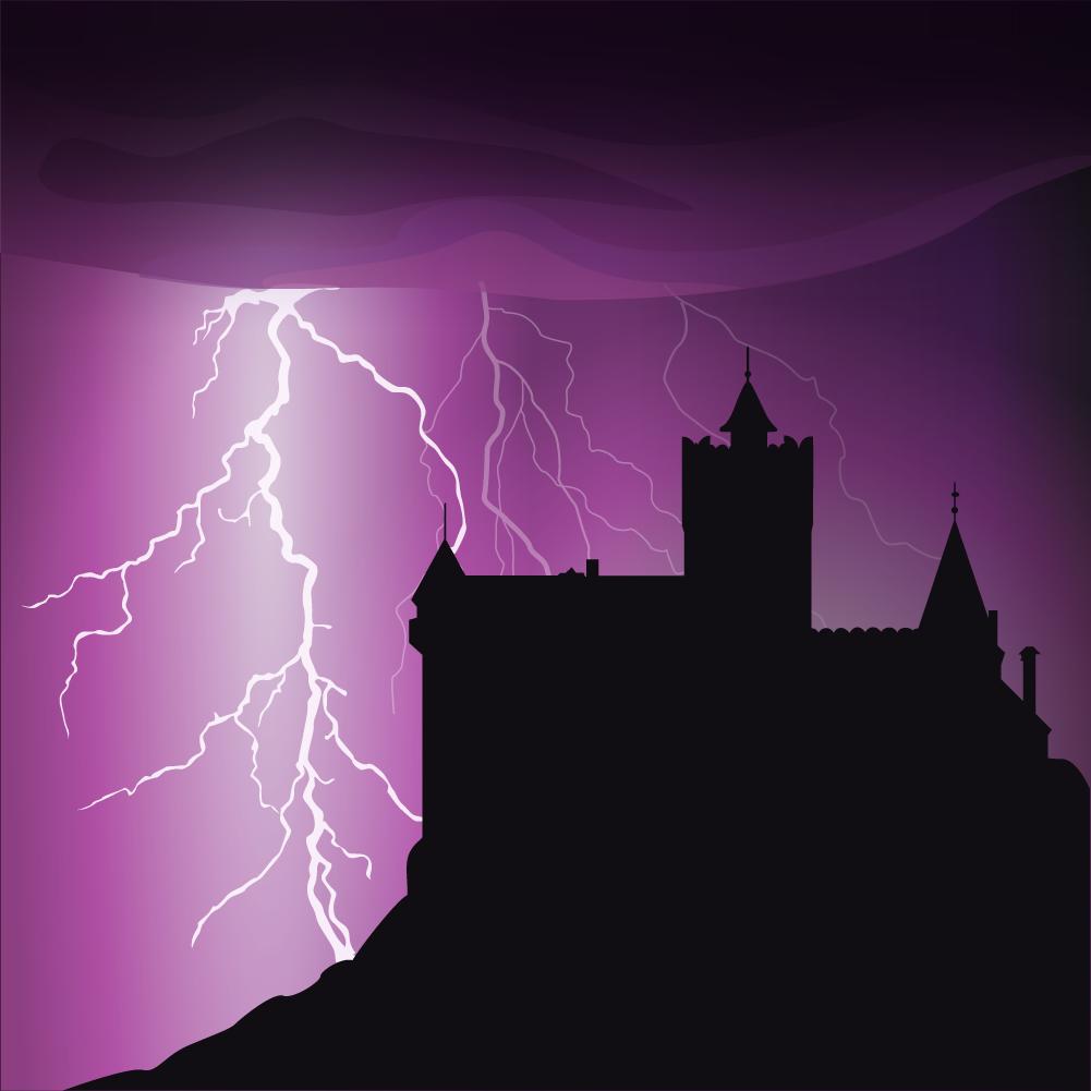 Halloween castle background Photoshop brush