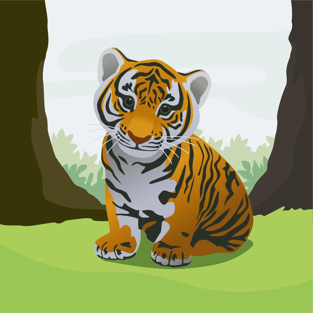 Cute tiger Photoshop brush