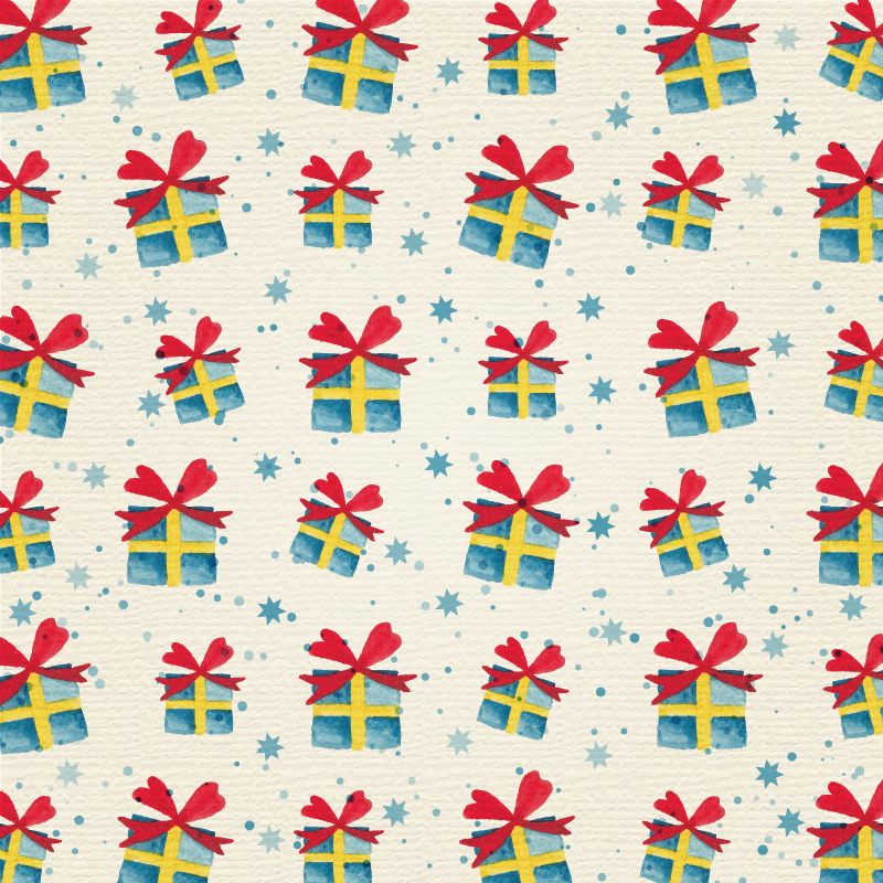 Christmas background with gifts Photoshop brush