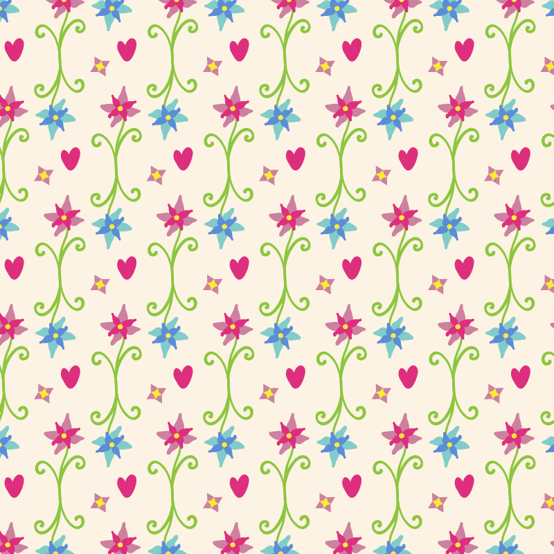 Spring pattern Photoshop brush