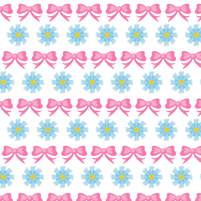 Floral pattern with bow Photoshop brush