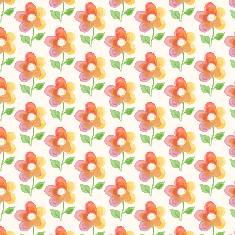 Floral background with watercolor flower Photoshop brush
