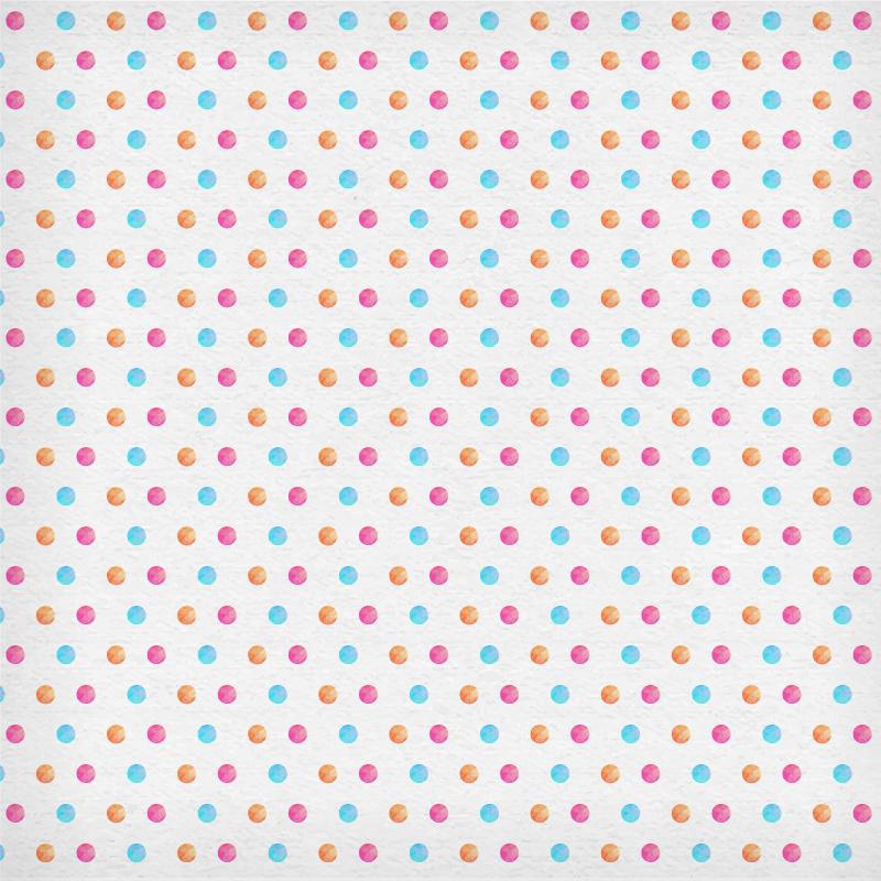 Watercolor polka pattern Photoshop brush