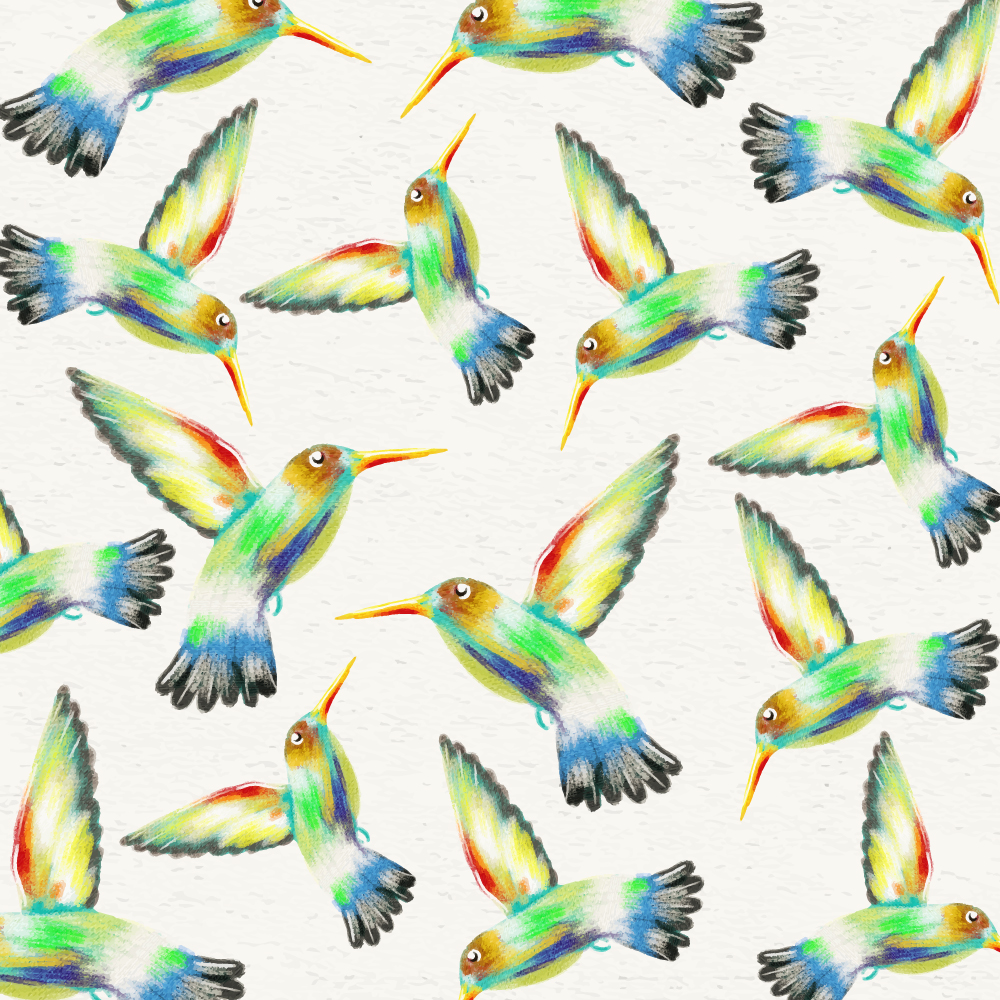 Watercolor background with hummingbirds Photoshop brush
