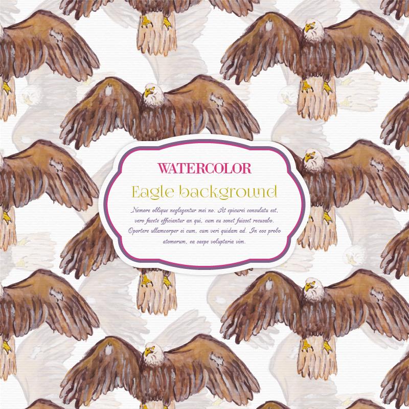 Watercolor eagle background Photoshop brush