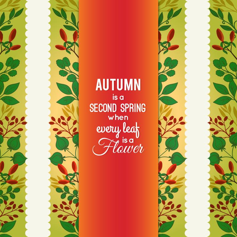 Autumn Floral Card Photoshop brush