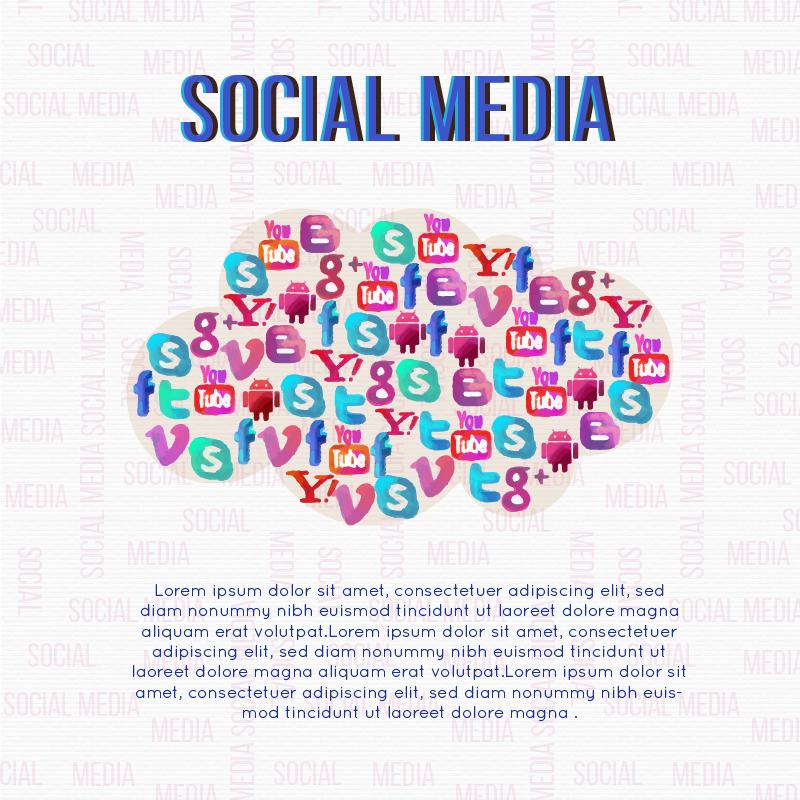 Social Media Cloud Illustration Photoshop brush