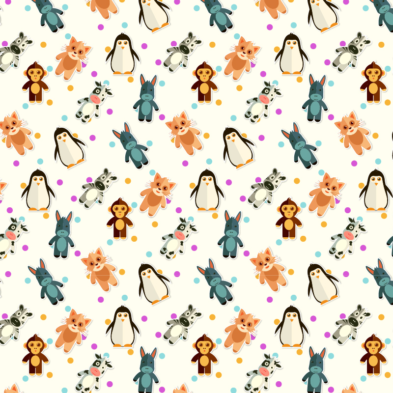 Pattern With Cute Animals Photoshop brush